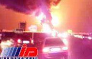 دوکشته در واژگونی تانکر سوخت در جاده بندرعباس