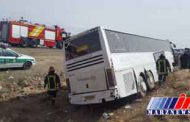 انحراف اتوبوس در محور «گرگان - کردکوی»
