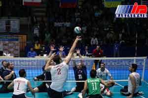 پیروزی تیم والیبال نشسته ایران در برابر روسیه