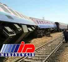 خروج قطار از ریل در مسیر نیشابور به طبس