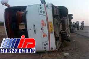 واژگونی اتوبوس در هرمزگان/ ۲۳ نفر مصدوم شدند