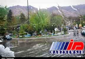 بارش سیلآسا در مازندران و غافلگیری مسافران