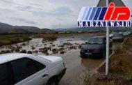 سیلاب جاده ماکو - بازرگان را مسدود کرد