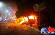 شارع سدره در کربلا دچار آتش سوزی شد