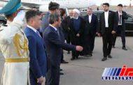 دکتر روحانی قزاقستان را به مقصد تهران ترک کرد