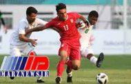 تساوی تیم فوتبال امید ایران برابر عربستان
