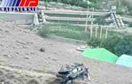سقوط مرگبار ماشین عروس به دره در آمل