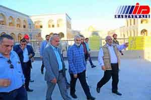 سردار سلیمانی از پروژه ساخت صحن حضرت زهرا در نجف بازدید کرد