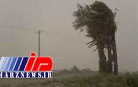 سرعت طوفان در سیستان ۱۰۱ کیلومتر