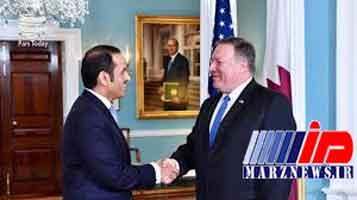 دیدار وزیر خارجه قطر با پامپئو در واشنگتن