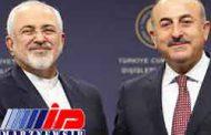 رایزنی ظریف و چاووش اوغلو در مورد توافق ادلب