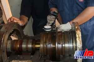 تعمیر و راهاندازی یک دستگاه مهم در تاسیسات تزریق آب منطقه سیری