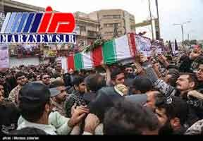 مراسم تشییع پیکر شهدای حادثه تروریستی اهواز آغاز شد + جزئیات
