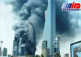آتش سوزی در بانک ملی کویت