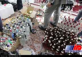 کارگاه تولید مشروبات الکلی در خراسان شمالی منهدم شد
