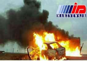 تصادف منجر به حریق ۷ کشته برجای گذاشت