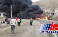 واژگونی تریلی در کردستان قربانی گرفت