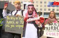 معترضان قتل خاشقچی مقابل سفارت سعودی در واشنگتن تجمع کردند