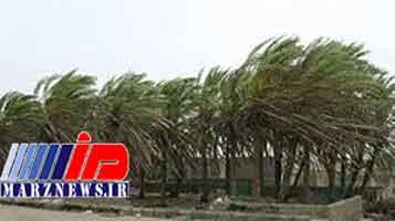 طوفان با سرعت ۷۵کیلومتر در مرز مهران