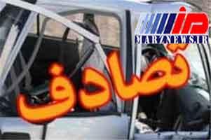 مداوای ۱۹ مصدوم تصادف کوت در بیمارستانهای مهران