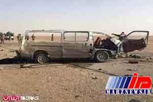مصدومیت ۱۰ زائر به دلیل واژگونی ون در ایلام
