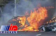 ۶ سرنشین سمند در هرمزگان در آتش سوختند
