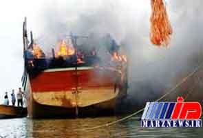 ۲ کشته در آتشسوزی یک لنج باری در چابهار
