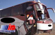 واژگونی یک اتوبوس در سبزوار