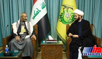 دیدار هیأتی یمنی با دبیر کل «نجباء» عراق