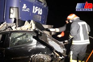 برخورد قطار تبریز به مشهد با خودرو ۲۰۶