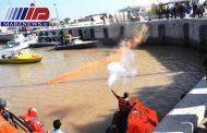 برگزاری مانور قایق بقا در بندر خرمشهر