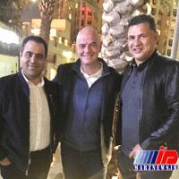 دیدار عجیب علی دایی با رییس فیفا در دوبی