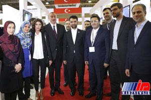 بازدید رییس جمهور آذربایجان از غرفه های ایرانی نمایشگاه باکوتل ۲۰۱۸