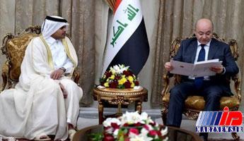 دعوت رسمی امیر قطر از رئیسجمهور عراق برای سفر به دوحه