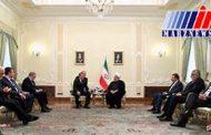 دیدار رئیس دومای روسیه با روحانی در تهران