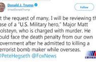 ترامپ قاتل شهروند افغانستانی را قهرمان ارتش آمریکا خواند