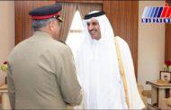 دیدار امیر قطر با فرمانده ارتش پاکستان