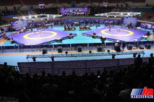 نبرد بزرگان کشتی فرنگی ایران و روسیه در فینال جام باشگاههای جهان