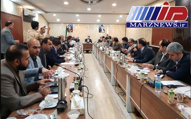 جلسه کارگروه مرزهای مجاز کشور در پایانه شلمچه