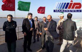 بازدید مدیرکل مرزی وزارت کشور از دژ مرزی اروند کنار آبادان