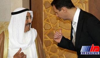 تصویر مشترک امیر کویت و بشار اسد در دمشق