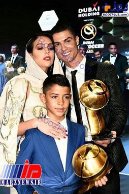 پوشش متفاوت نامزد رونالدو در دبی+عکس
