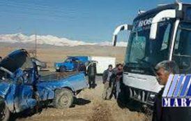 برخورد مرگبار اتوبوس با نیسان در آذربایجان شرقی