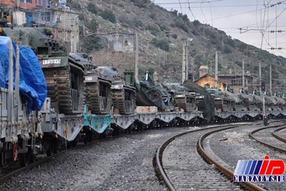 لشکرکشی ارتش ترکیه به مرز سوریه