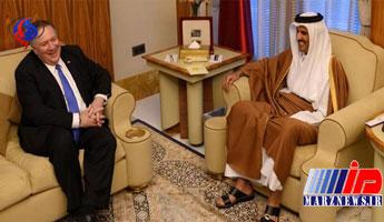 دیدار وزیر خارجه آمریکا با امیر قطر
