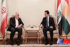 ظریف با مشاور امنیتی اقلیم کردستان عراق دیدار کرد