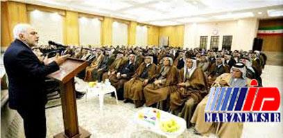 دیدار ظریف با سران و نمایندگان عشایر جنوب عراق