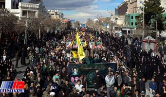 پیکرهای۱۰شهید دفاع مقدس ومدافع حرم درمشهد تشییع شدند