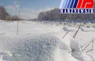 ارتفاع نیم متری برف در آلاشت