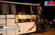 ۱۵ مصدوم حاصل برخورد تریلر و اتوبوس در مسجد سلیمان
